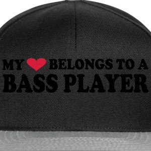 MY HEART BELONGS TO A BASS PLAYER T-shirts - Snapback Cap