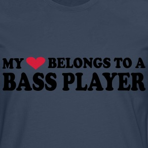 MY HEART BELONGS TO A BASS PLAYER Tee shirts - T-shirt manches longues Premium Homme