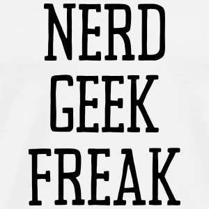 NERD GEEK FREAK Tank Tops - Men's Premium T-Shirt