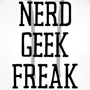 NERD GEEK FREAK Skjorter - Premium hettegenser for menn
