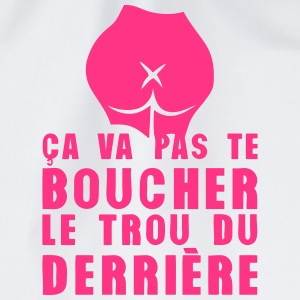boucher trou derriere fesse citation Tee shirts - Sac de sport léger