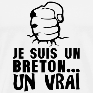 breton vrai poing frappe ferme citation Sweat-shirts - T-shirt Premium Homme