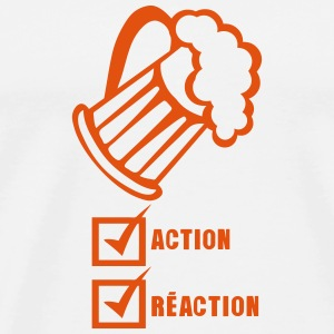 action reaction valide biere alcool Manches longues - T-shirt Premium Homme