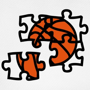 Basketball ball puzzle 2901 T-Shirts - Baseball Cap