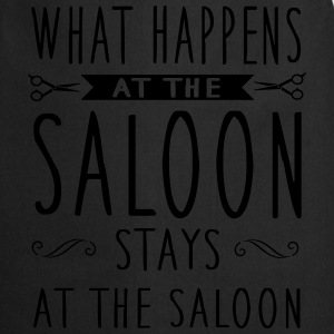 What happens at the saloon stays there Langarmshirts - Kochschürze
