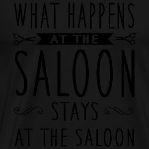 What happens at the saloon stays there Langarmshirts - Männer Premium T-Shirt