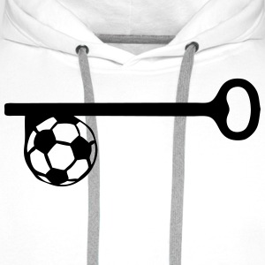key football soccer  Aprons - Men's Premium Hoodie