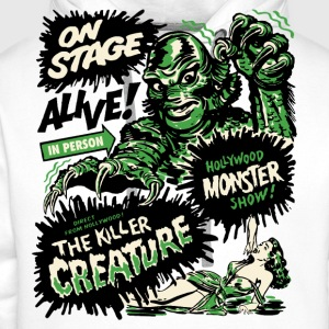 Weiß The Killer Creature Hollywood Show T-Shirts - Männer Premium Hoodie