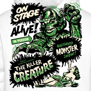 Blanc The Killer Creature Hollywood Show Tee shirts - Sweat-shirt à capuche Premium pour hommes