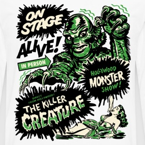 Weiß The Killer Creature Hollywood Show T-Shirts - Männer Premium Langarmshirt