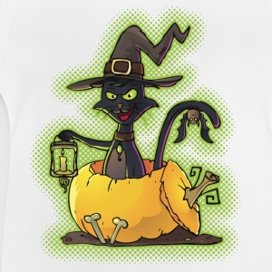 Halloween Black Witch Cat in Pumpkin Shirts - Baby T-Shirt