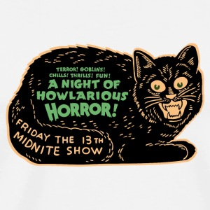 Vintage Halloween Black Cat Night of Horror Mugs & Drinkware - Men's Premium T-Shirt
