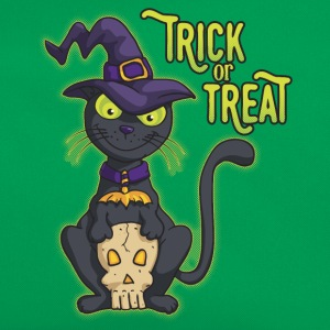 Halloween Black Witch Cat Trick or Treat Shirts - Retro Bag