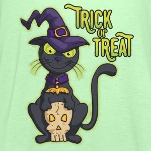 Halloween Black Witch Cat Trick or Treat Shirts - Women's Tank Top by Bella