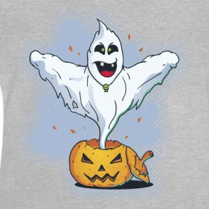 Scary Halloween Ghost with Pumpkin Shirts - Baby T-Shirt