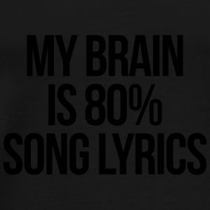 Song Lyrics Funny Quote Caps & luer - Premium T-skjorte for menn