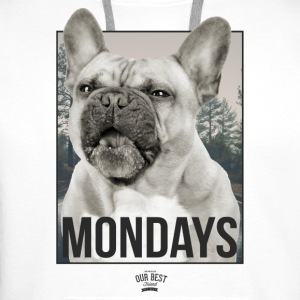 Monday Dog Face Underwear - Men's Premium Hoodie