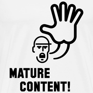 Mature Content! (Warning) Tank Tops - Men's Premium T-Shirt