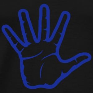 Hand 5 fingers 2601 Tops - Men's Premium T-Shirt