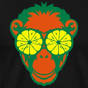Monkey eye ring lemon drawing  Aprons - Men's Premium T-Shirt