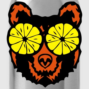 Bear eye drawing lemon drawing T-Shirts - Water Bottle