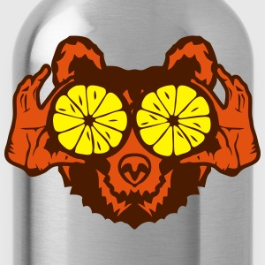 Bear eye drawing lemon hand drawing T-Shirts - Water Bottle