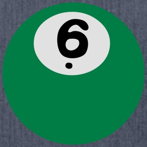 6 Ball Snooker Ball Billard T-Shirts - Schultertasche aus Recycling-Material