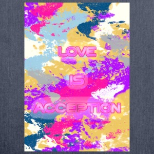 Love is Acception T-shirts - Schoudertas van gerecycled materiaal