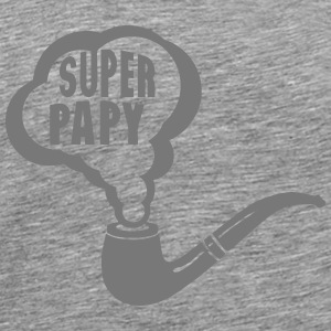 papy super pipe fume 1901 Manches longues - T-shirt Premium Homme