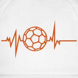 handball trace curve heart word beat Tops - Baseball Cap