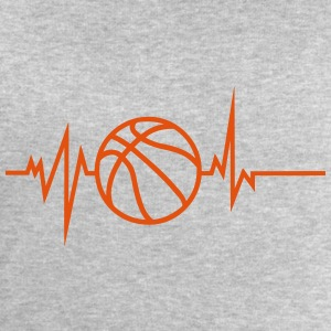 basketball trace curve heart word beat 8 Shirts - Men's Sweatshirt by Stanley & Stella