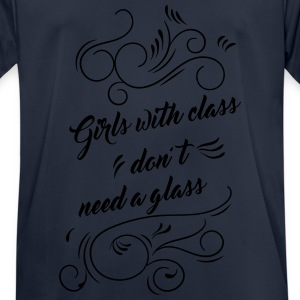 Girls with class don't need a glass Sweatshirt blu - T-shirt respirant Homme