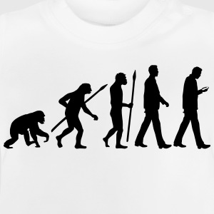 evolution_of_man_smartphone02_1c T-Shirts - Baby T-Shirt