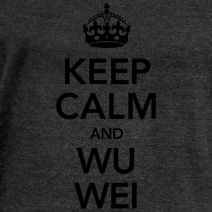 Keep Calm And Wu Wei T-Shirts - Women's Boat Neck Long Sleeve Top