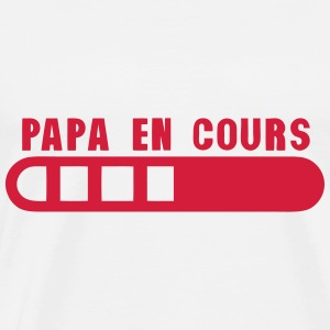 papa en cours barre progression 1501 Sweat-shirts - T-shirt Premium Homme