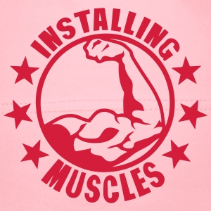 installing muscles logo bodybuilding 0 T-Shirts - Baby Mütze