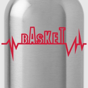 Basketball trace curve heart word beat T-Shirts - Water Bottle