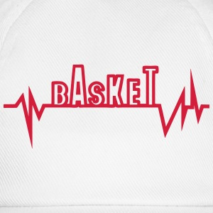 Basketball trace curve heart word beat Tops - Baseball Cap