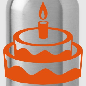 Birthday candle cake 1401  Aprons - Water Bottle