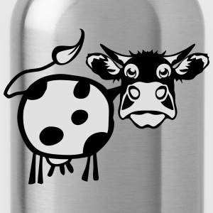 cow drawing 1301 T-Shirts - Water Bottle