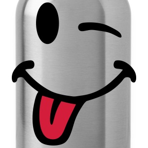 Smiley pulls the tongue 7012 T-Shirts - Water Bottle
