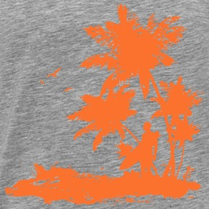 Surfers Beach orange Sportbekleidung - Männer Premium T-Shirt