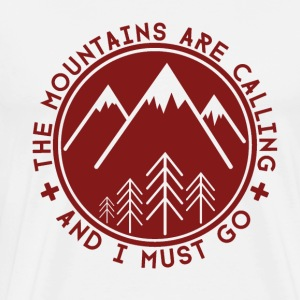 The Mountains are Calling Long sleeve shirts - Men's Premium T-Shirt
