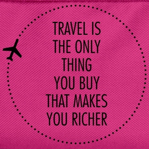 Travel Is The Only Thing You Buy... T-skjorter - Ryggsekk for barn