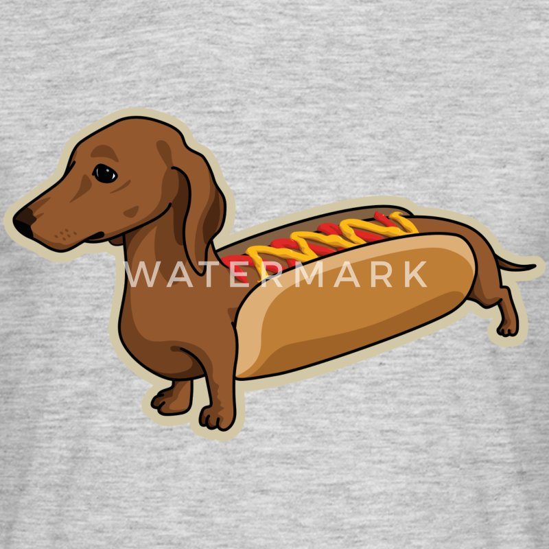 Hot-Dog Dog - T-shirt Homme