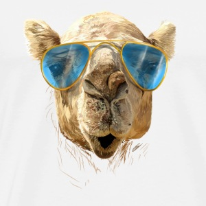 Camel with sunglasses Topper - Premium T-skjorte for menn