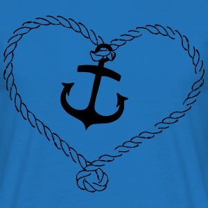 Anchor Shirt with heart of rope Bags & Backpacks - Men's T-Shirt