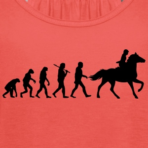 Evolution of horse riding T-Shirts - Frauen Tank Top von Bella