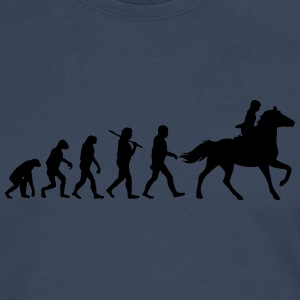 Evolution of horse riding T-Shirts - Männer Premium Langarmshirt