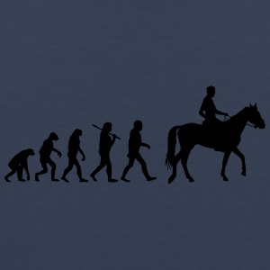 Evolution of horse riding T-Shirts - Männer Premium Tank Top